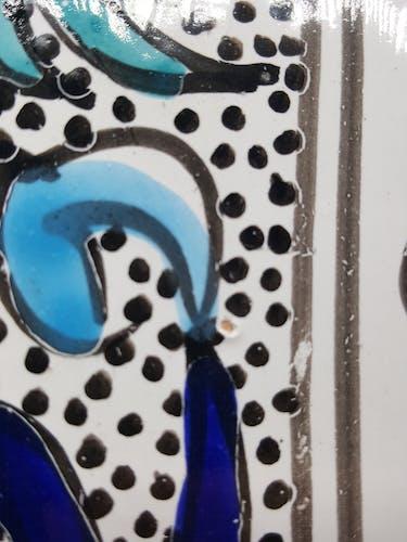 6 assiettes en faience céramiques peintes à la main décor poisson provençale