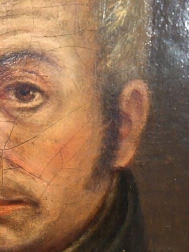 Tableau ancien, portrait d'un homme de Loi , XIX siècle