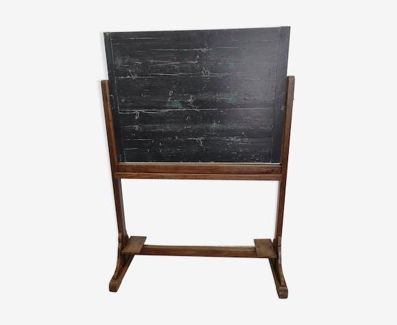 Tableau d'école en bois ancien