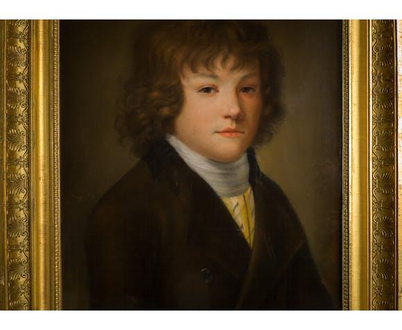 Pastel vers 1800 jeune garçon école française