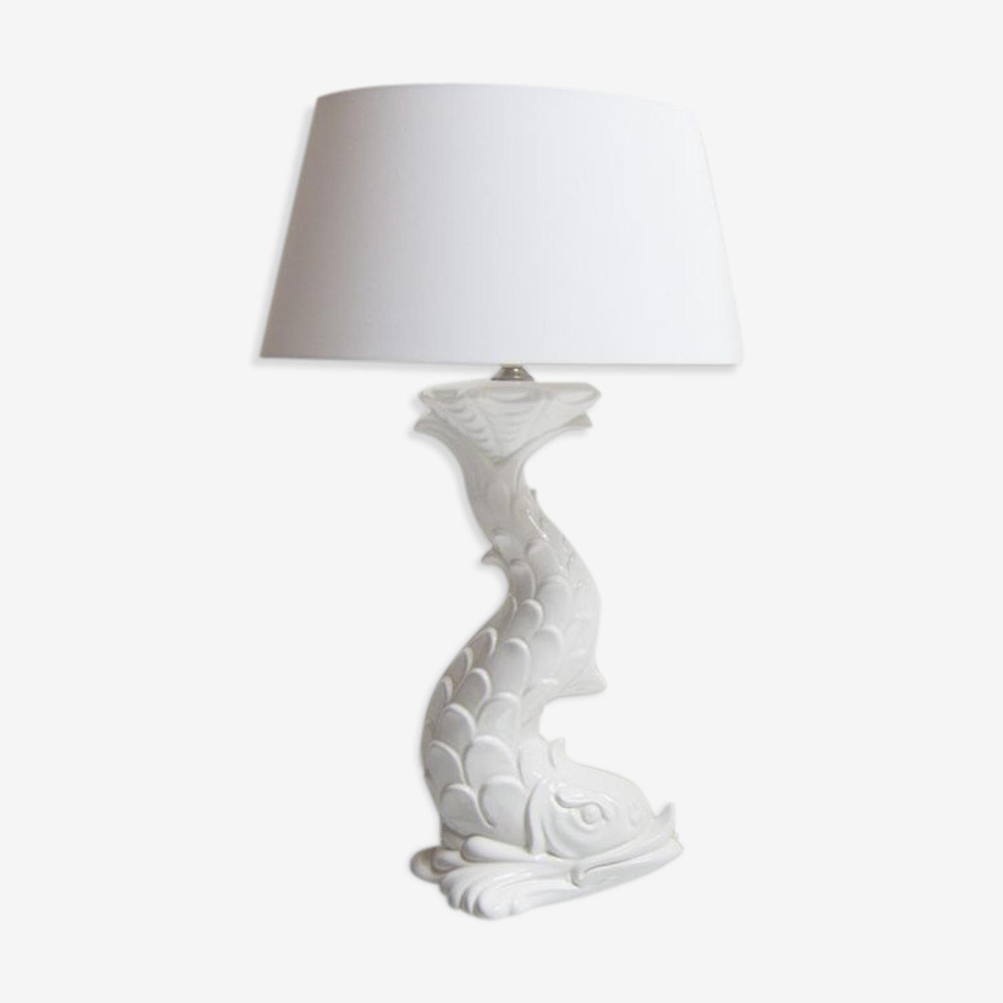 Lampe à poisson chinoise en porcelaine