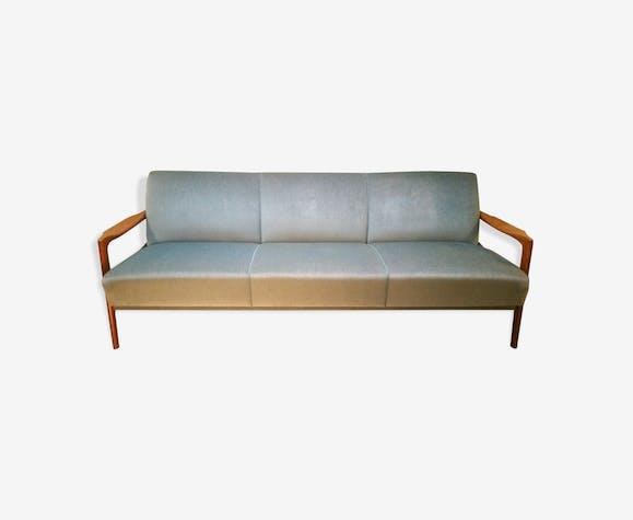 canap lit scandinave danois ann es 50 60 convertible bleu tissu bleu scandinave bgeris9. Black Bedroom Furniture Sets. Home Design Ideas