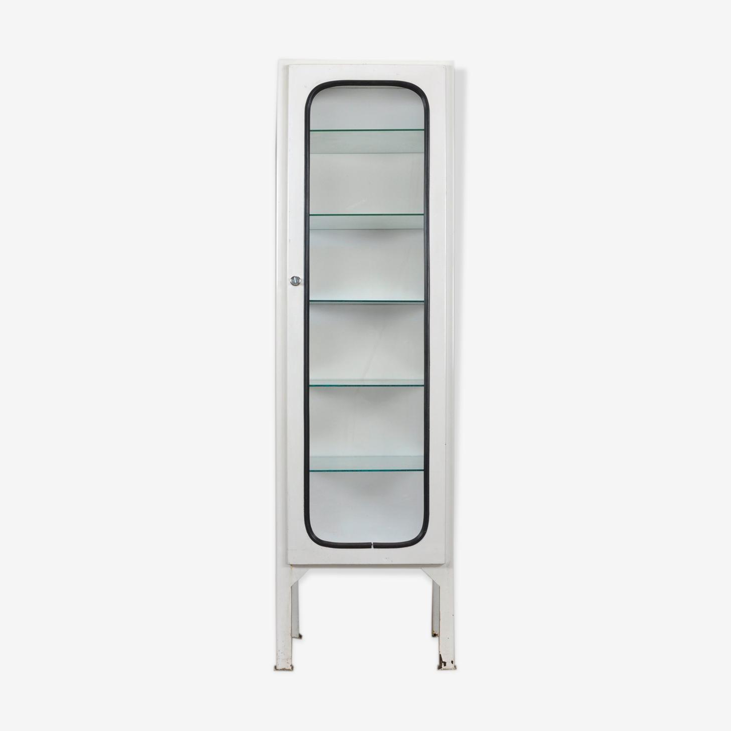 Armoire médicale avec cinq étagères en verre, 1975