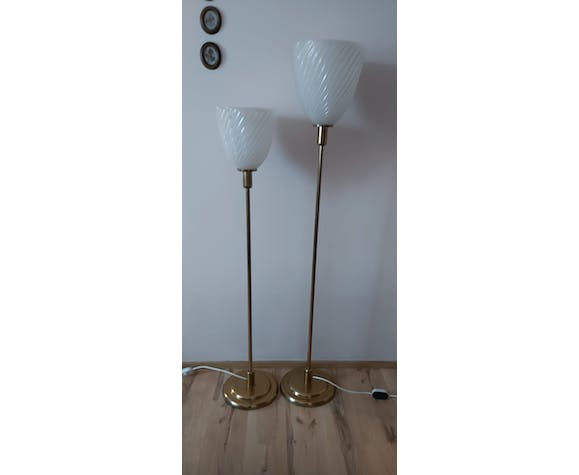 Pair of Floor Lamps, France, 1980s