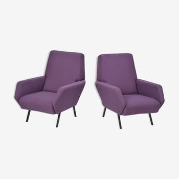 Pair of purple chairs, Italy, 1960's
