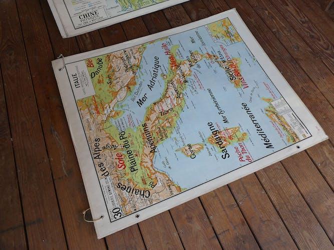 Italy's ancient school map no.30 Vidal Lablache
