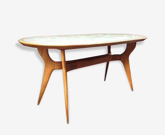 Table design italien 1950 - bois (Matériau) - bois (Couleur ...
