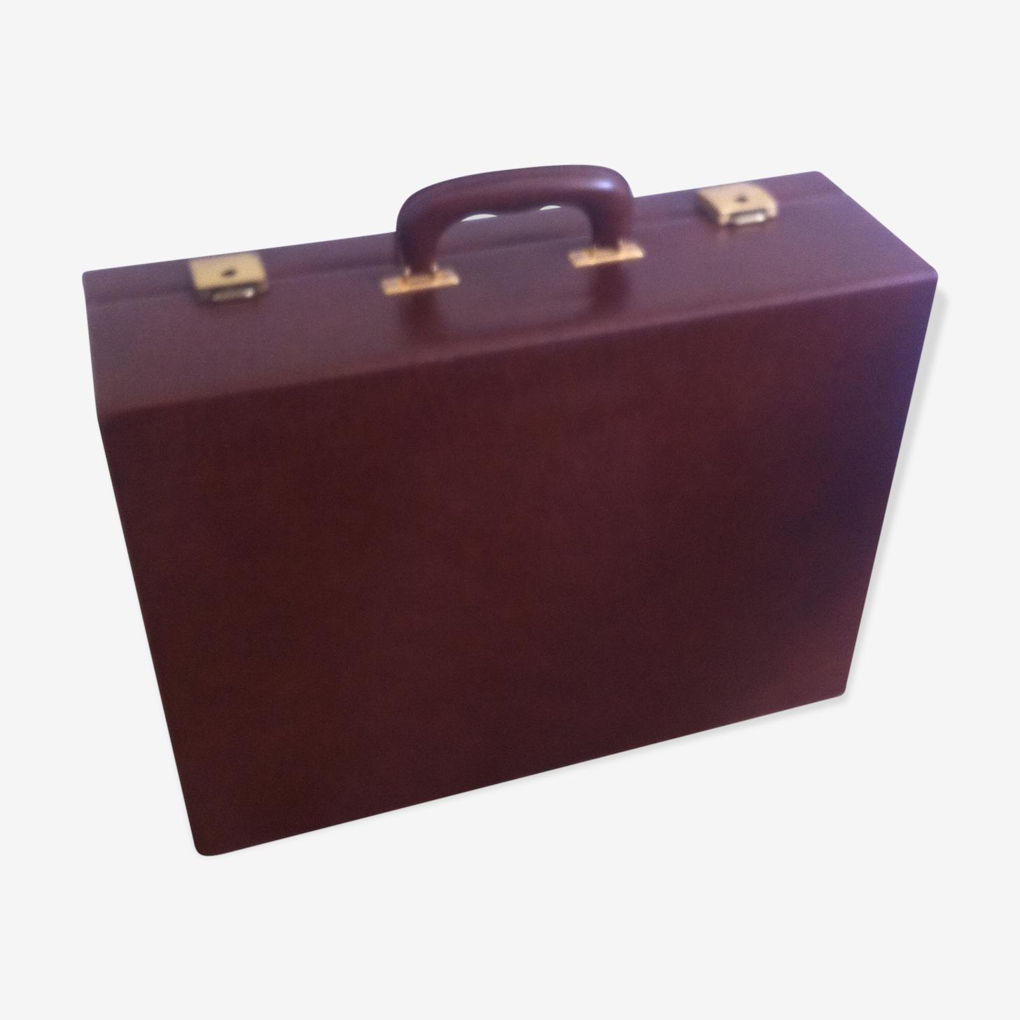 Vintage faux leather suitcase