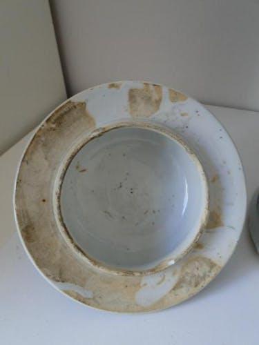 Blue and white China vase