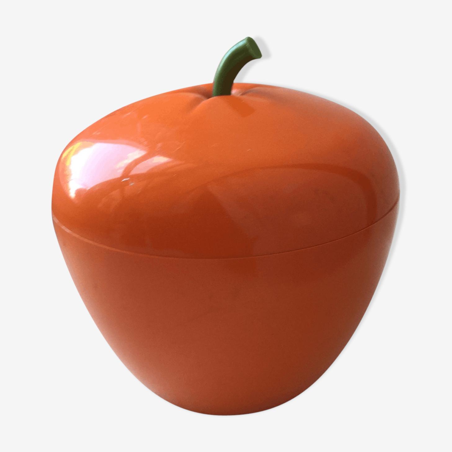 Seau a glace pomme orange vintage années 60