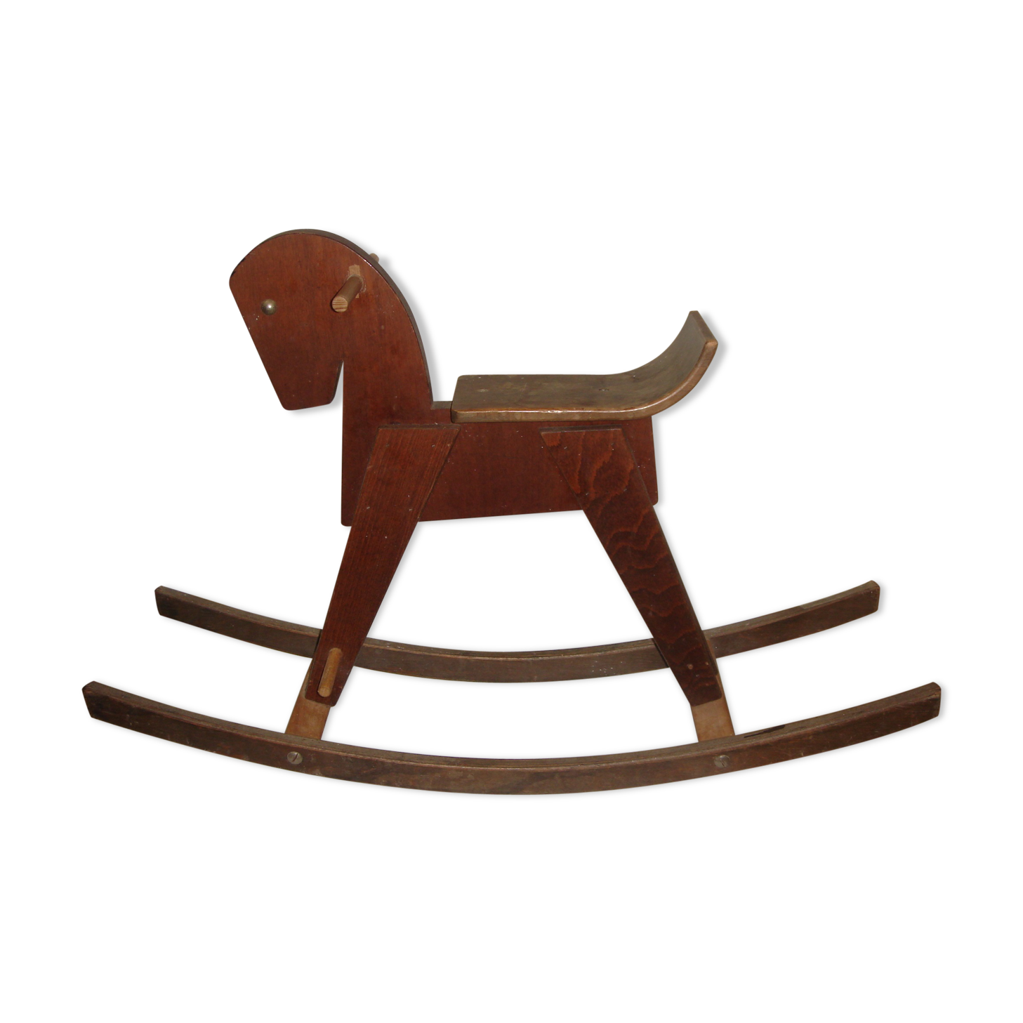 Cheval à bascule en bois vintage \