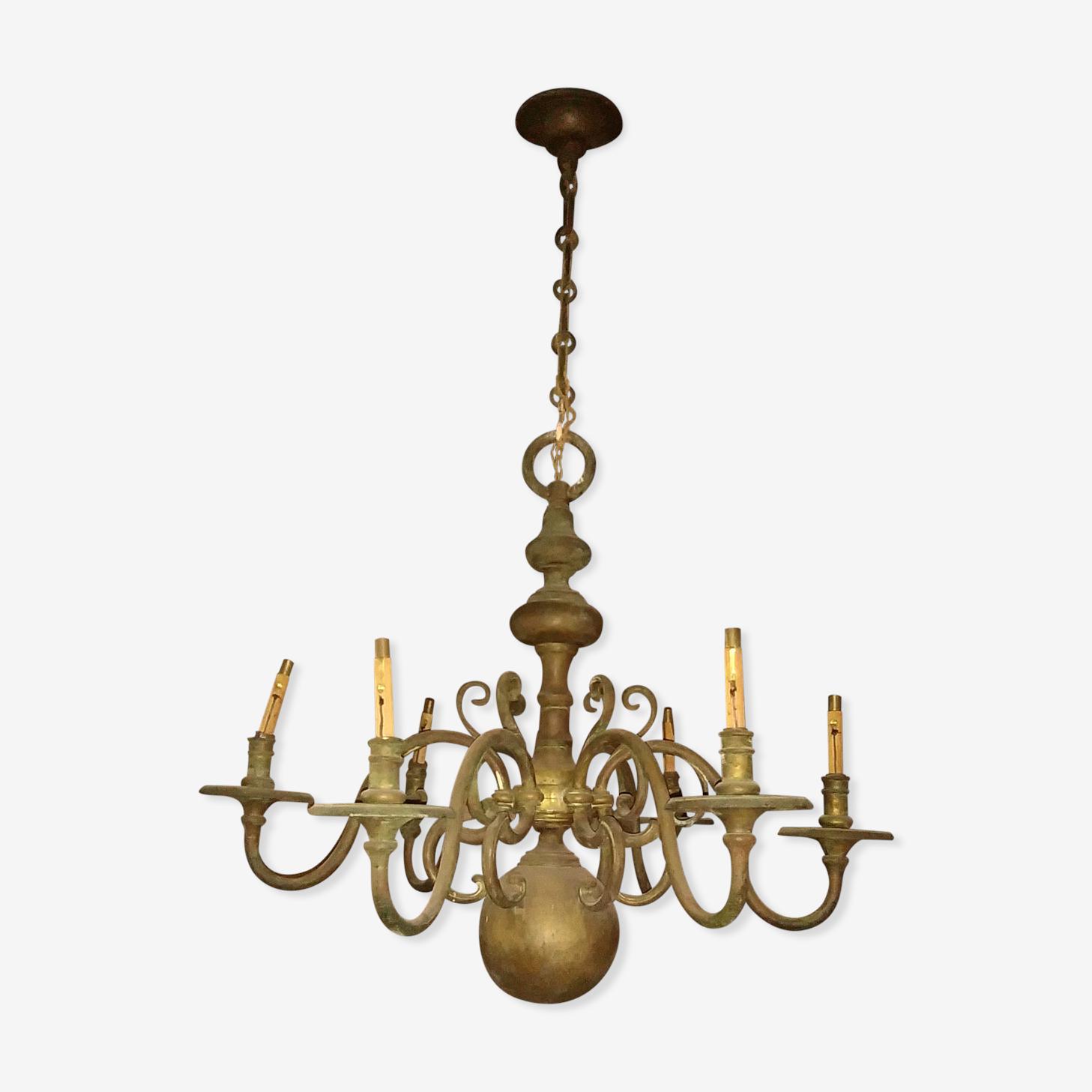 Lustre Hollandais Bronze Jaune Classique Qip896f