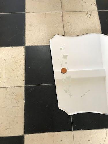 Miroir biseauté Art Déco à suspendre