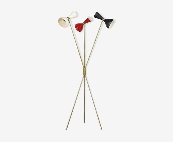 Lampadaire tripod dans le style des créations Italiennes des années 50