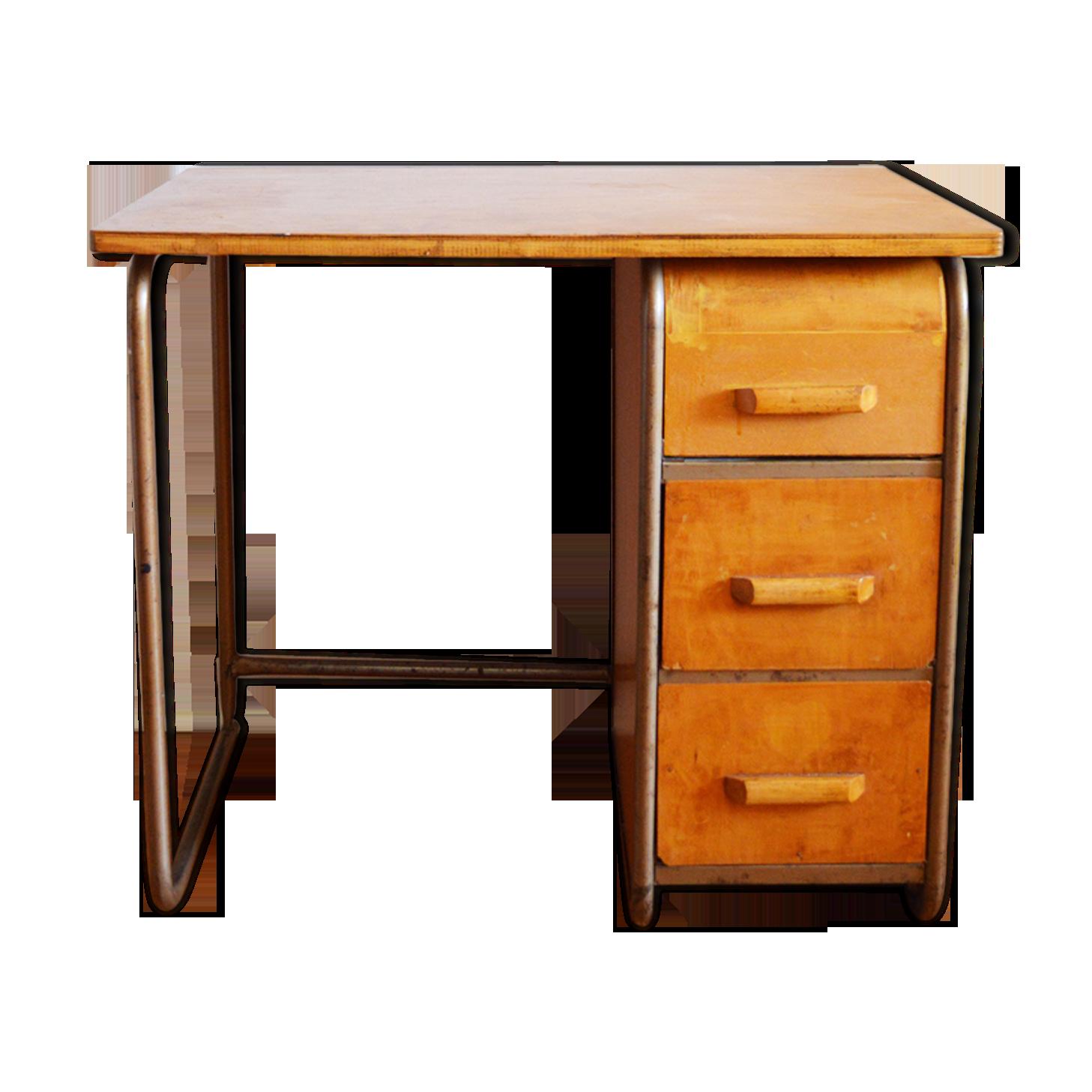 Bureau enfant bois métal bois matériau bois couleur