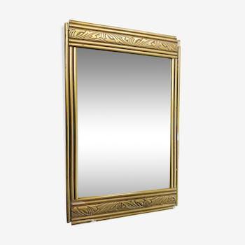 Miroir art déco doré