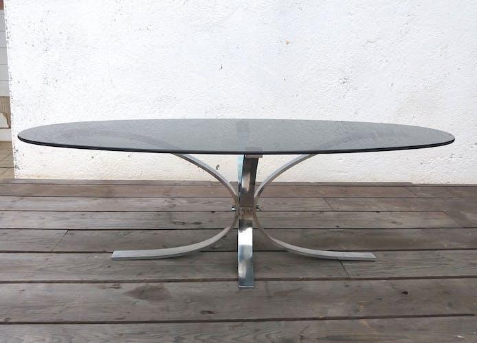 Table basse inox des années 70