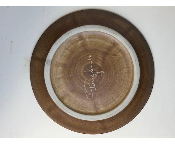 Set of 6 ceramic plates compartmentalized