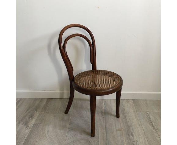 Chaise enfant Thonet avec étiquette milieu XIX