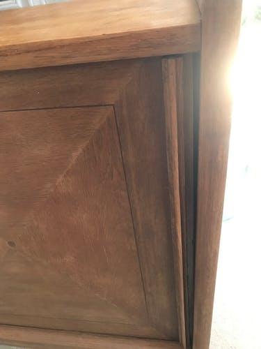 Massive teak sideboard