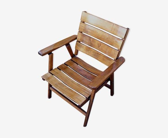 Fauteuil de jardin pliants en bois - bois (Matériau ...