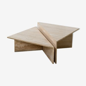 Travertine coffee table by Up&Up, Italy, 1970s