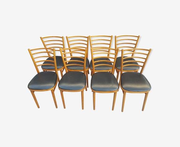 Série de 8 chaises de salon de Thonet 1930