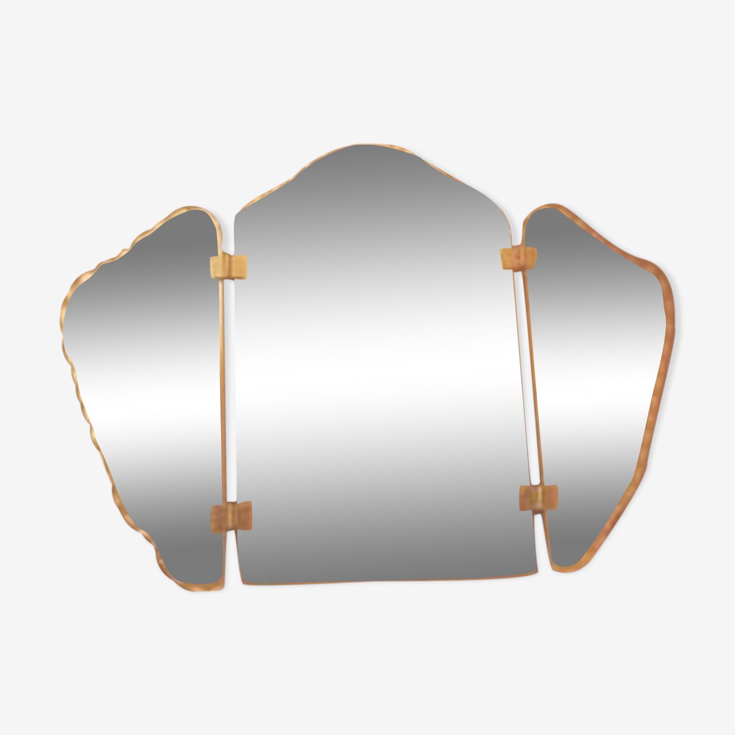 Miroir triptyque biseauté 73x52cm