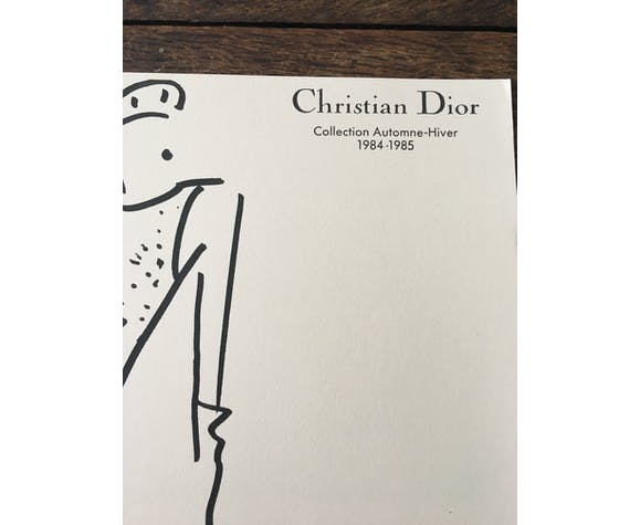 Christian Dior: fashion illustration and press photography, 1984-1985
