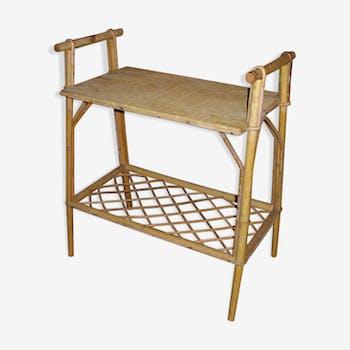 Table d'appoint ancienne en osier
