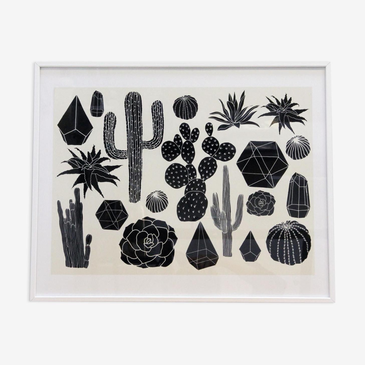 Cactus noir - edition limitée Art Print