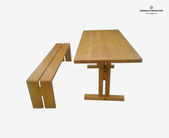 Table Et Banc Charlotte Perriand Les Arc 1960 Wood Wooden