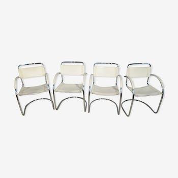 Set of italian armchairs leather