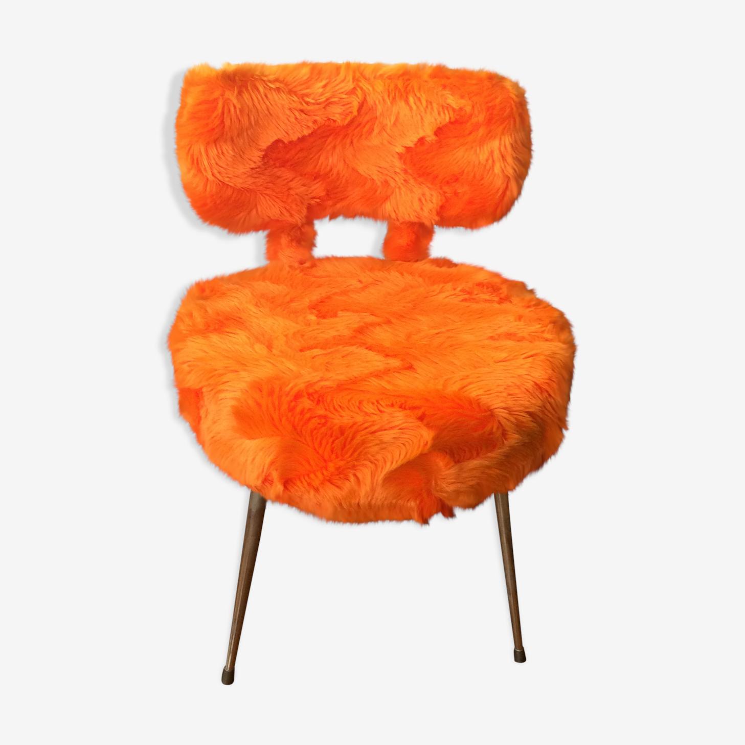 Chaise moumoute années 50