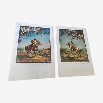 2 vintage two-sided circus posters