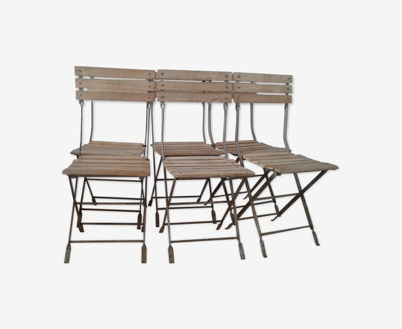 Chairs Of Wrought Iron And Wood White