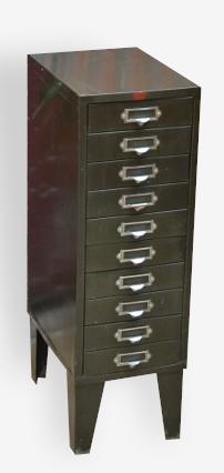 Meuble industriel à tiroirs