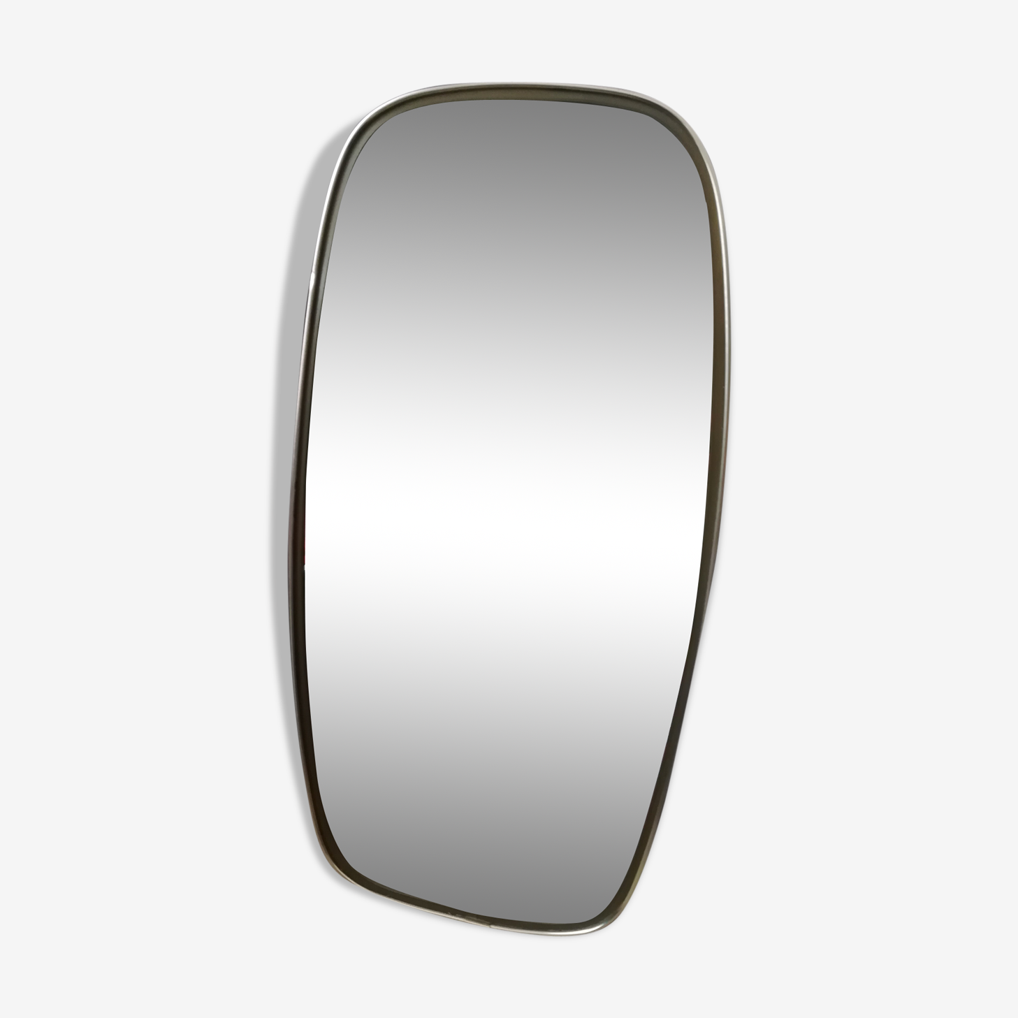Asymmetric mirror shape free vintage brass 23x47cm