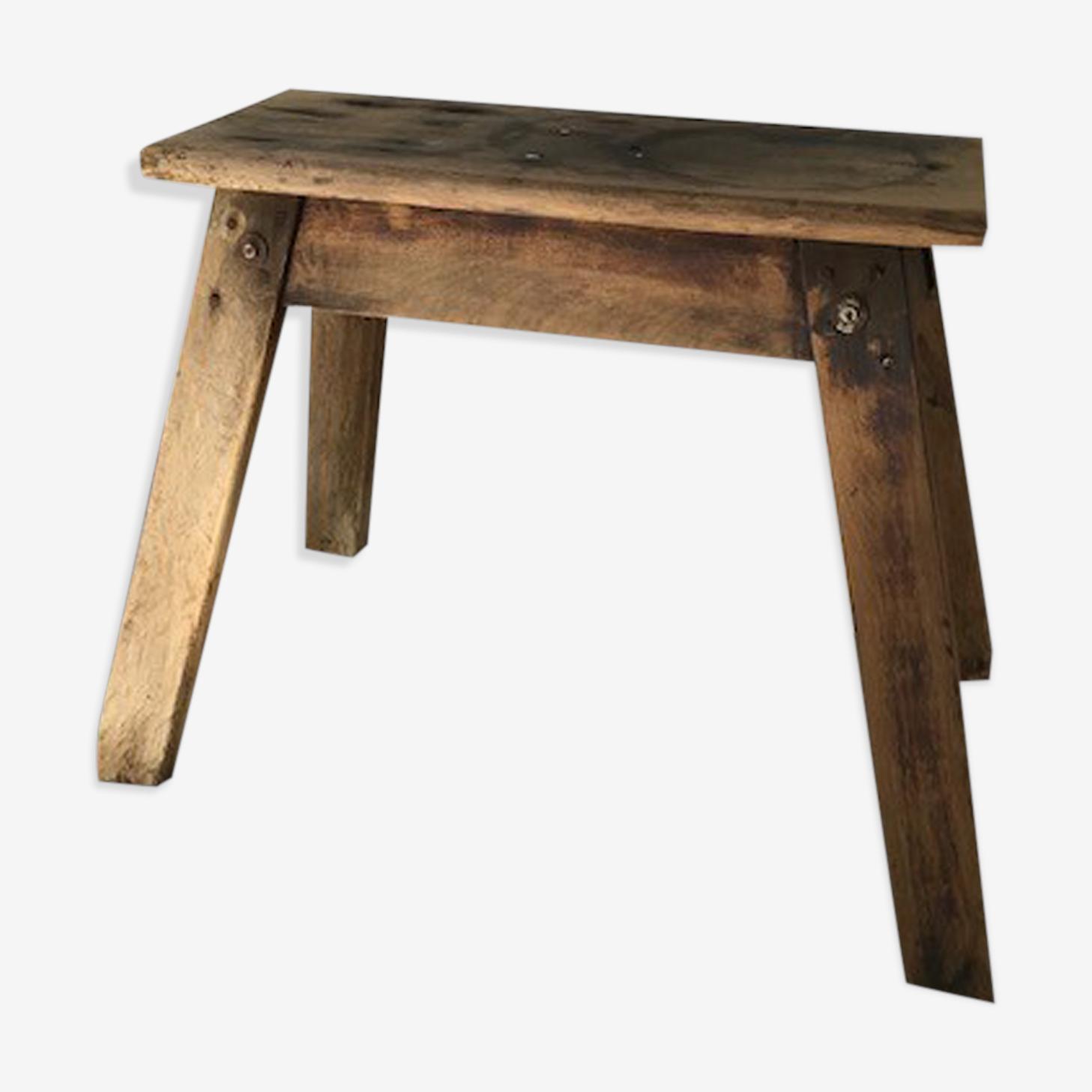 Vintage wooden stool of carpenter