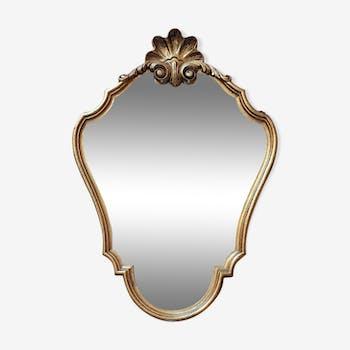 Golden mirror 56x39cm