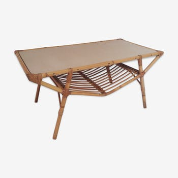 Table low rattan