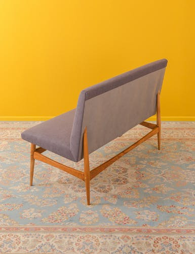 Walnut bench from the 1960s