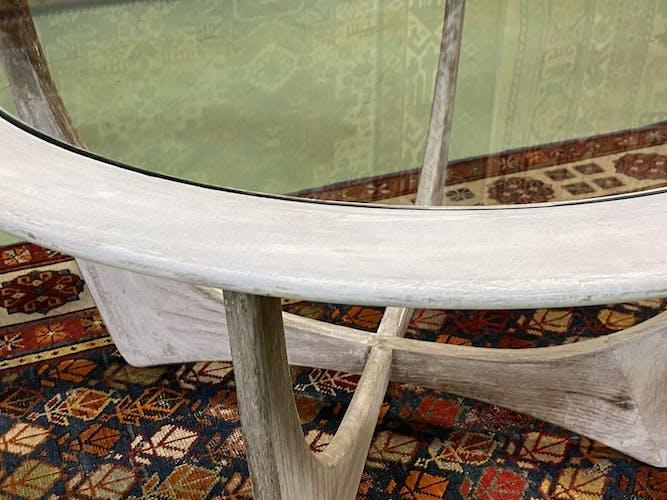 Table basse ronde modèle Astro de G Plan en teck patiné - années 60