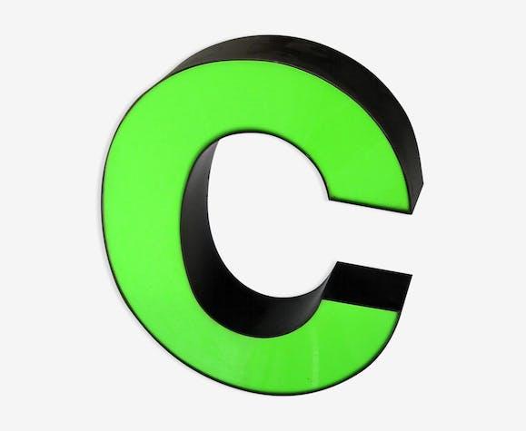 Letter C neon