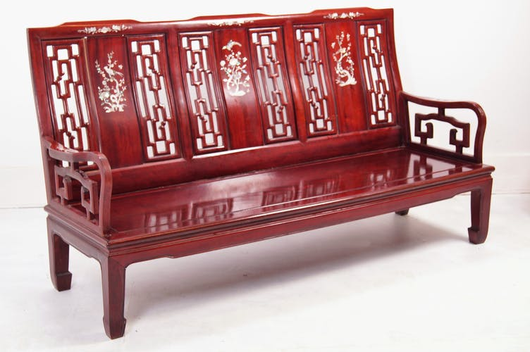 Solid cherrywood japanese bench