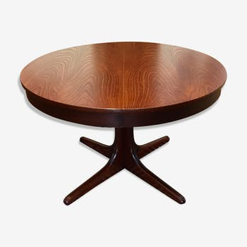 Table de salle manger vintage d 39 occasion for Table ronde extensible scandinave