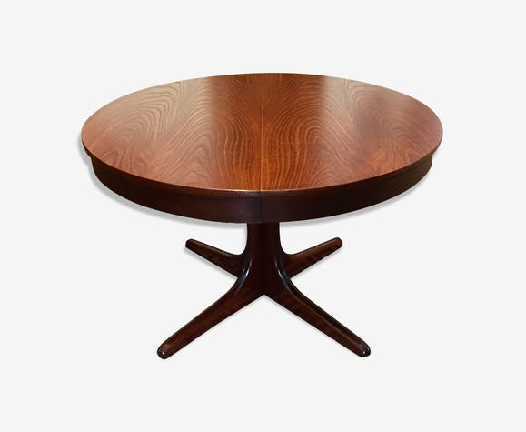 Table ronde extensible vintage design scandinave - wood ...