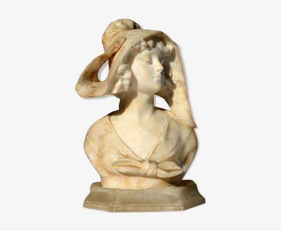 Bust marble A.Saccardi late XIX early XX th