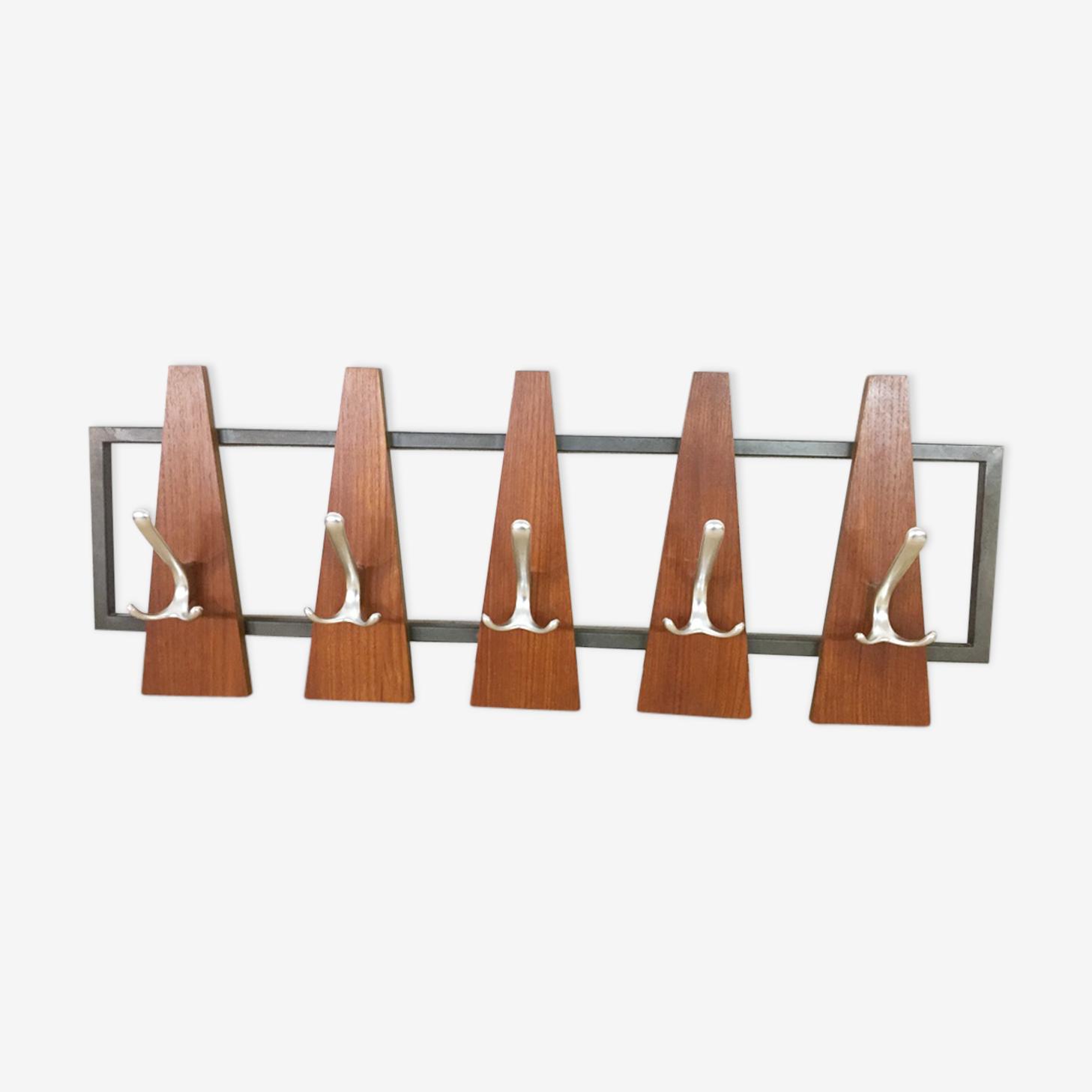 Scandinavian wall coat rack, 1960
