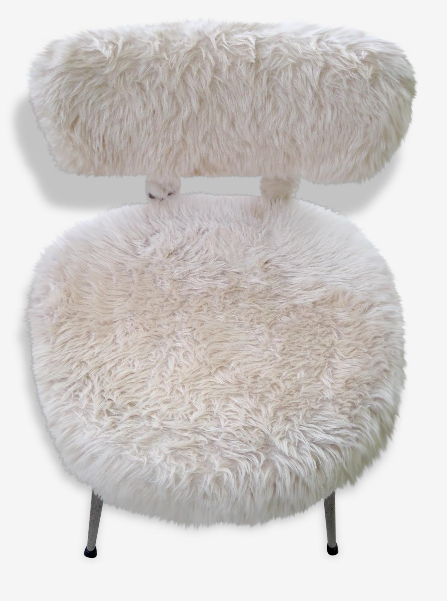 Fauteuil et chaise enfant en tissu vintage d occasion